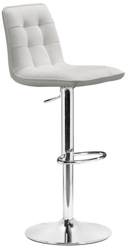 zuo modern soda adjustable height bar stool white zuo 17 best images about kitchen counter stools on pinterest