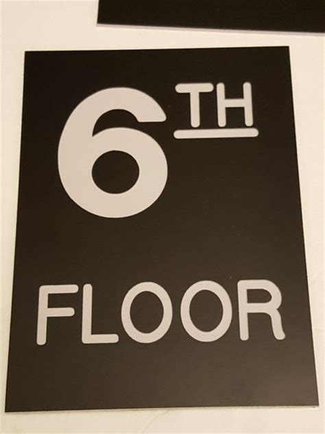 floor number sign engraved plastic hpd signs the