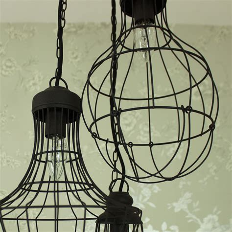 industrial wire pendant ceiling light melody maison 174