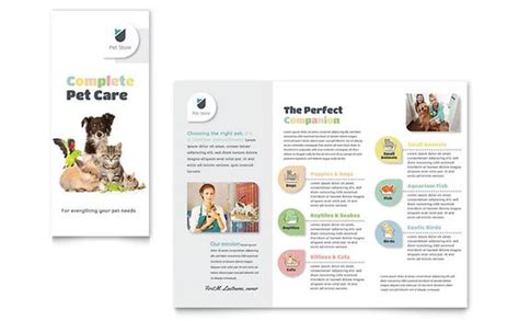 pet store brochure design template by stocklayouts rspca