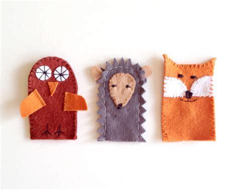 adorable diy felt finger puppets that your kid can make