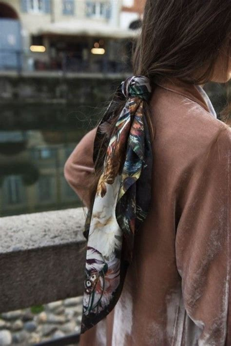 scarf ponytail   perfect hairstyle  summer