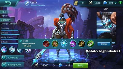 mobile legend build alpha guide and cdr build 2019 mobile legends