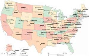 united states map with labeled states and capitals map united states with capitals map travel