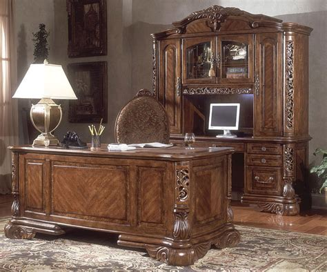 Ornate Executive Desk by Traditional Executive Desk Set Home Office Collection