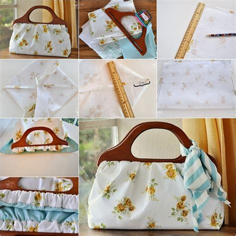 pattern for wood handle purse diy handbag tutorial ideas fashion beauty news