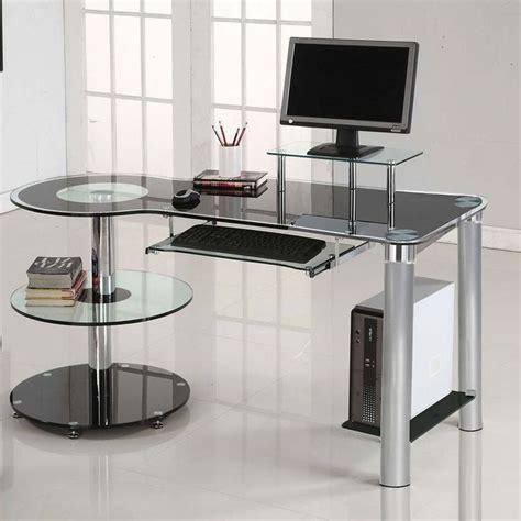 Innovex Desk by Majik Innovex Orbit Black Tempered Glass Desk Rent To