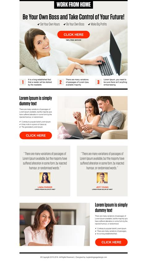 Work From Home Ppc Landing Page 013 Work From Home Landing Page Design Preview Work From Home Template