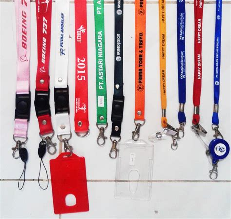 Tali Id Card 40cm 2 jual id card tali lanyard name tag plastik harga murah tangerang oleh toko zeropromosi
