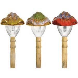 Mushroom Solar Lights Westinghouse Solar Green Ceramic Mushroom Walmart Com