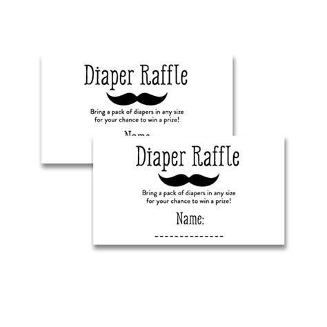 free printable diaper raffle tickets mustache baby shower black white little man mustache insert