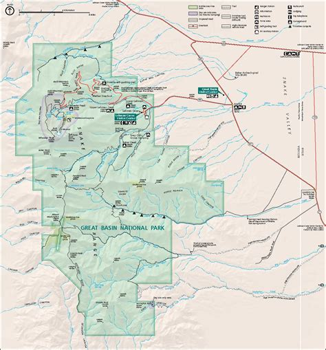 great basin on a map great basin national park