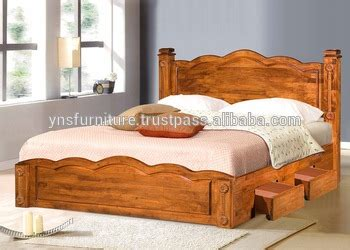 wood double bed designs  box  buy wood double bed