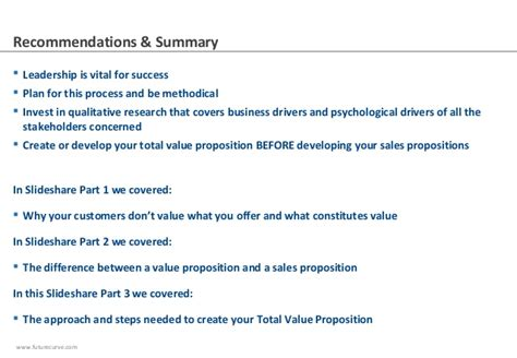 sle of values harnessing your customer from value propositions to