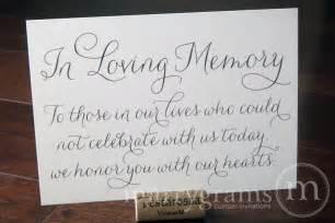 in memory of wedding program memorial quotes for wedding programs quotesgram