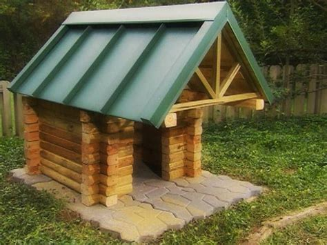 cabin dog house diy log cabin dog house pets dogs only 1 pinterest