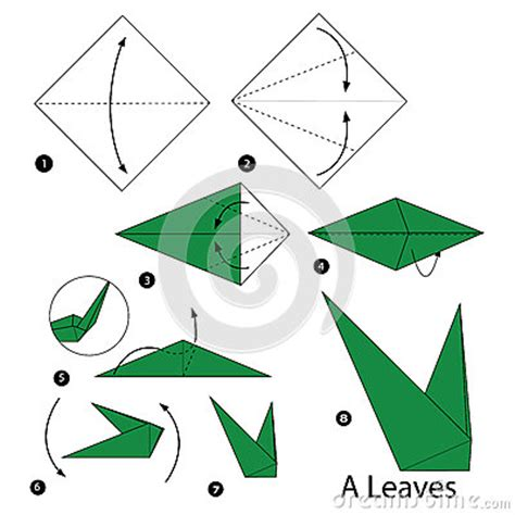 How To Make Origami Cards Step By Step - step by step how to make origami a leaves