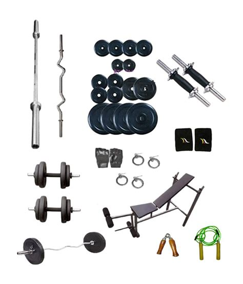 dreamfit 100 kg home dumbbell rubber plates 4 rods 5
