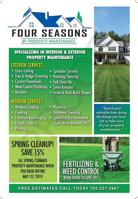 landscape maintenance advertisement sticky flyer advertising
