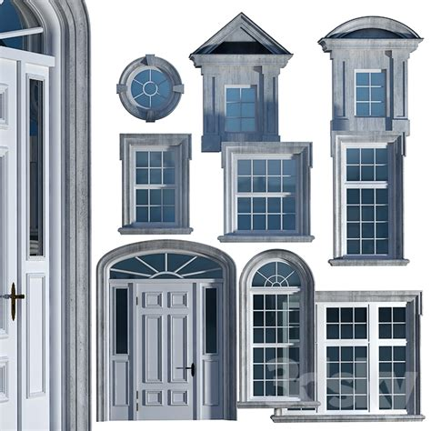 Classic Windows And Doors by 3d Models Windows Windows And Doors In The