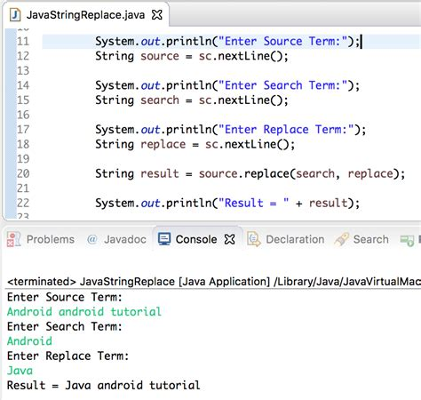 java replaceall pattern quote java string replace journaldev