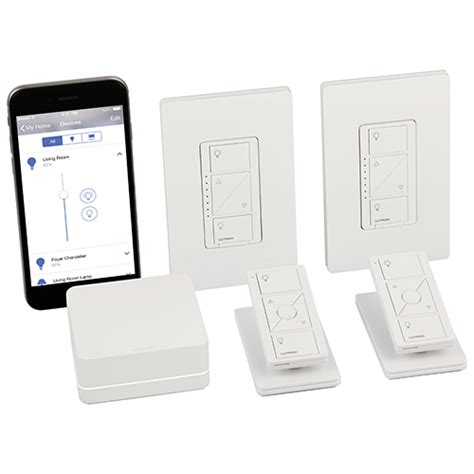 caseta wireless smart lighting dimmer switch starter kit lutron caseta smart light switch starter kit p bdg pkg2w