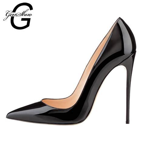 High Heels G genshuo shoes 12cm high heels pumps high heels