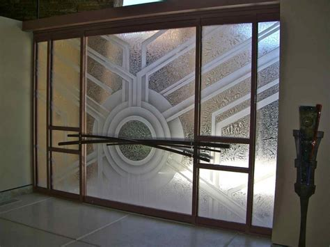 Glass Door Entry Etched Glass Window Sans Soucie Glass