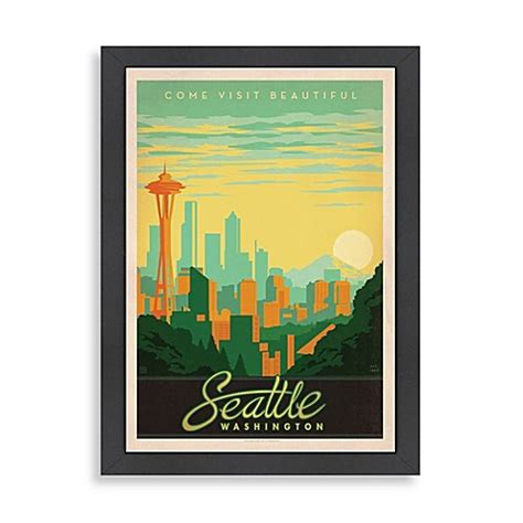 bed bath and beyond west seattle buy americanflat seattle framed wall art from bed bath beyond