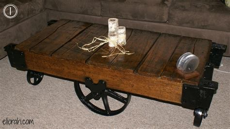 Rail Cart Coffee Table Rail Cart Coffee Table Bukit