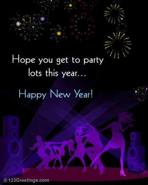 cool new year wish for friends free fireworks ecards