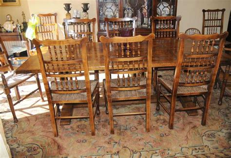 farm kitchen table sets farmhouse kitchen refectory table spindleback chair set dining