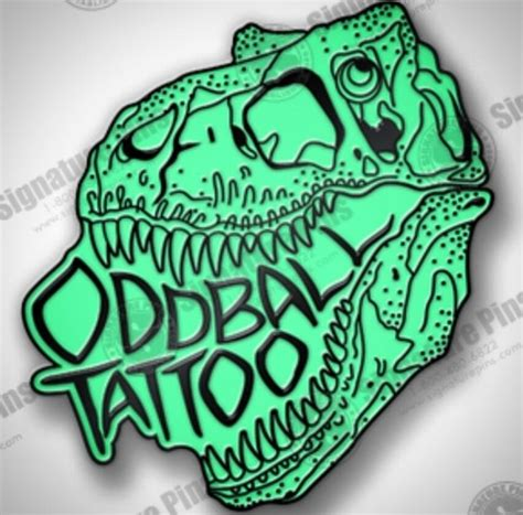 oddball tattoo oddball glow in the dino pin on storenvy