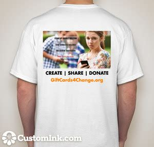 Donate Remaining Balance Of Gift Cards - create share donate t shirt giftcards4change org donate a remaining balance