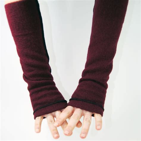 Arm Warmers by Arm Warmers In Merlot Merino Recycled Wool By