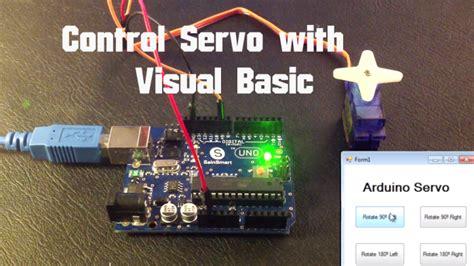 tutorial arduino visual basic arduino control servo with visual basic random nerd