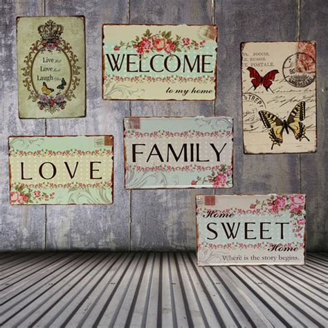 family tin sign vintage metal plaque poster bar home