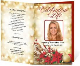 sle funeral programs themed funeral programs poinsetta funeral program template layout design creative