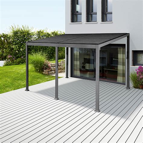 Pavillon Bauhaus by Sunfun Anstellpavillon Palma 3 X 4 X 2 4 M Anthrazit
