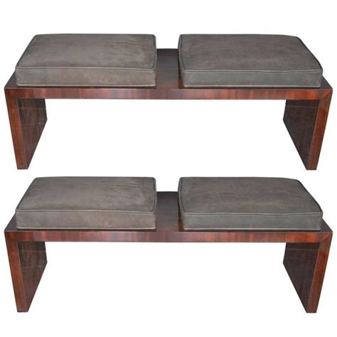 suede bench pair of suede double seat benches for sale at 1stdibs