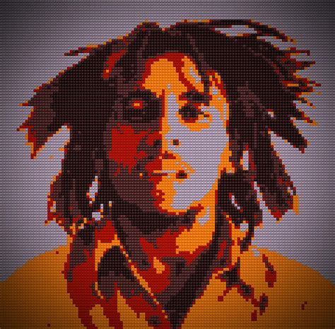 lego painting bob marley lego pop digital painting painting by