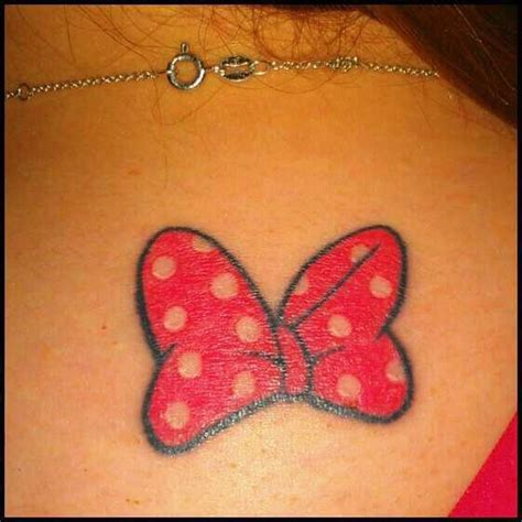 minnie mouse bow tattoo 156 best disney tattoos images on