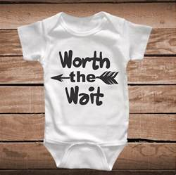 Modern Bathroom Wallpaper - worth the wait cute baby crawler clever sayings onesies for kids baby bodysuit custom design