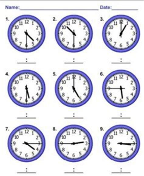 sen printable clocks worksheet containing 9 analogue clocks showing quarter to