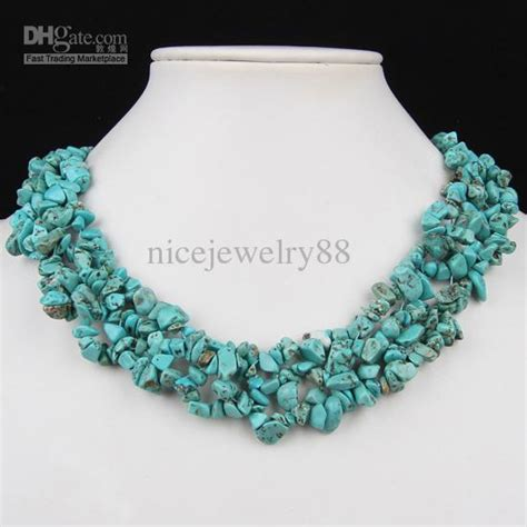 chip bead jewelry ideas 2017 howlite turquoise gemstone chip toggle clasp