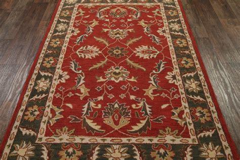 5x8 oushak agra area rug