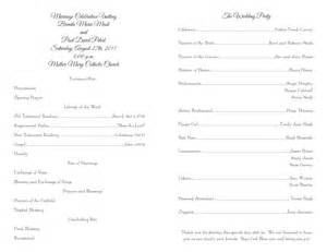Wedding Ceremony Program Templates by Wedding Program Templates Wedding Programs Fast