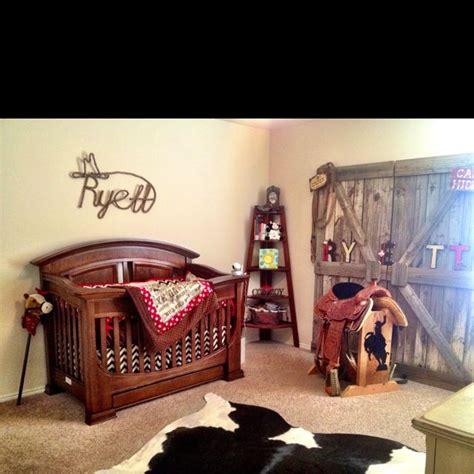 cowboy bedroom cowboy nursery love the barn door baby pinterest