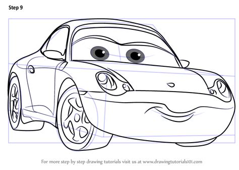 Cars 3 Sketches by Learn How To Draw Sally From Cars 3 Cars 3 Step By Step