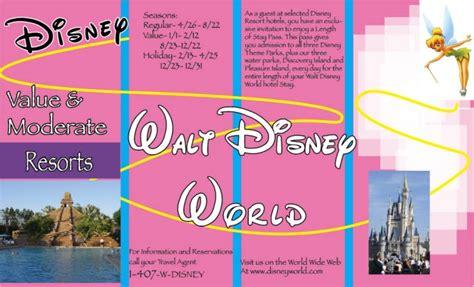 Walt Disney Brochure Bekonang Com Disney Flyer Template